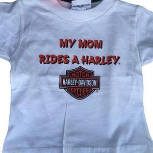 Harley-Davidson Shirts & Tops - My Mom Rides a Harley T Shirt 24 Months Baby New